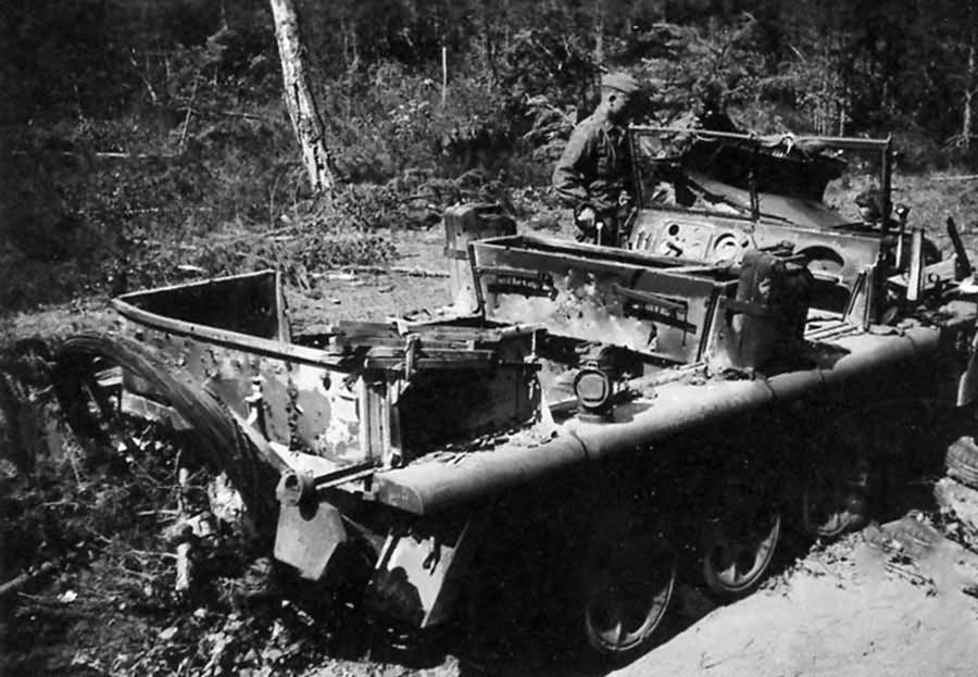 Destroyed SdKfz 10 Eastern Front