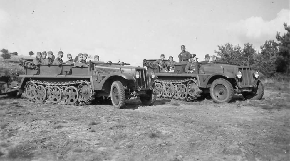 German halftracks SdKfz 10 photo