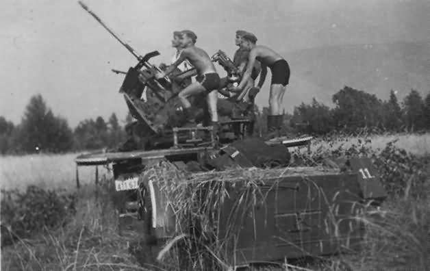 SdKfz 10/4 with flak 30