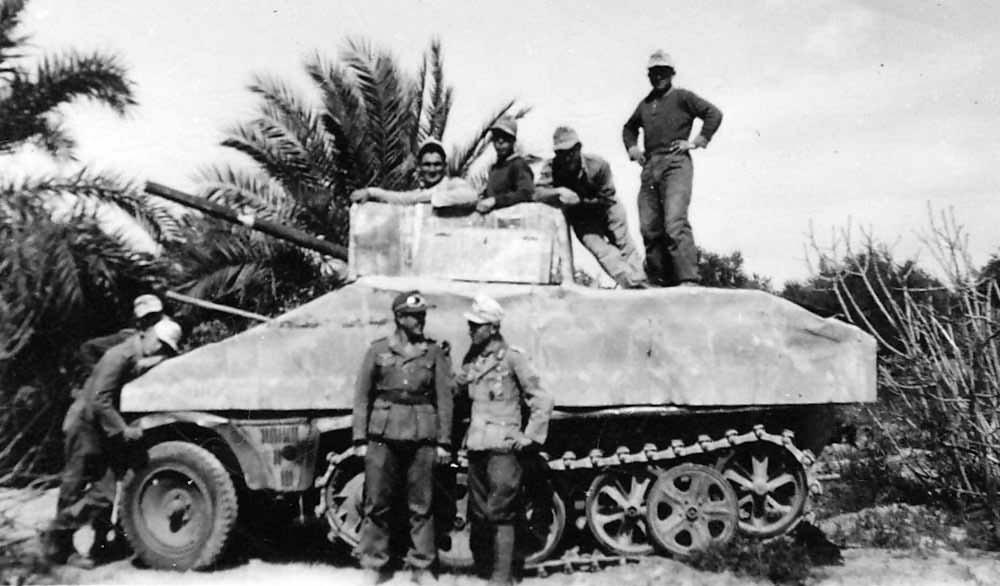 SdKfz 10 Panzerattrappe of the Afrikakorps DAK