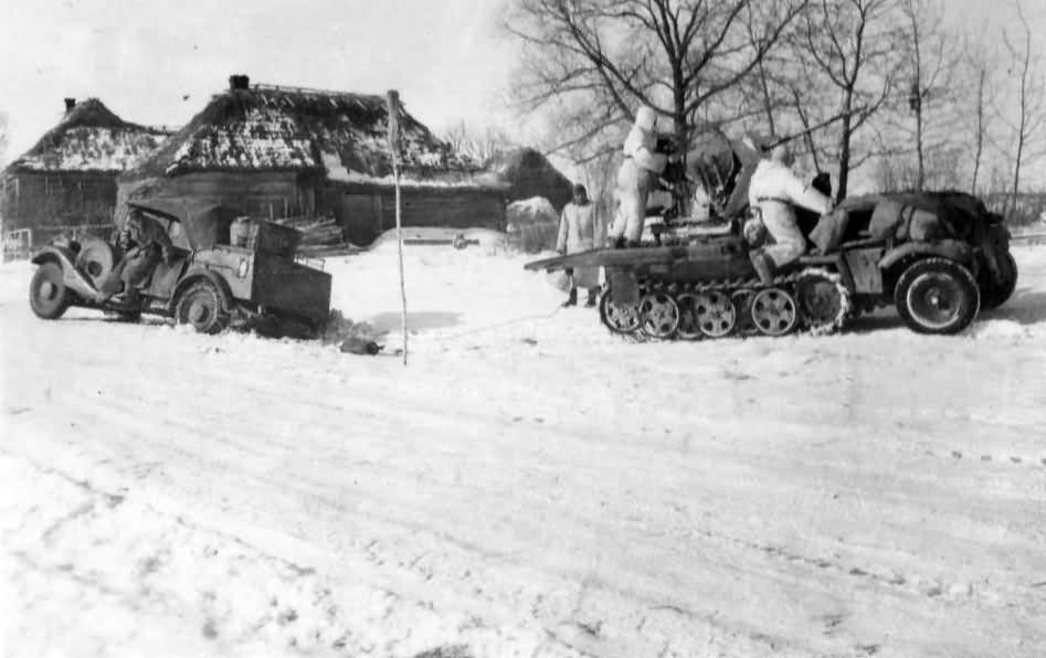 SdKfz 10/4 winter in Russia