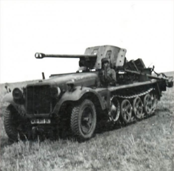 Sd.Kfz. 10 with 5 cm Pak 38 AT gun