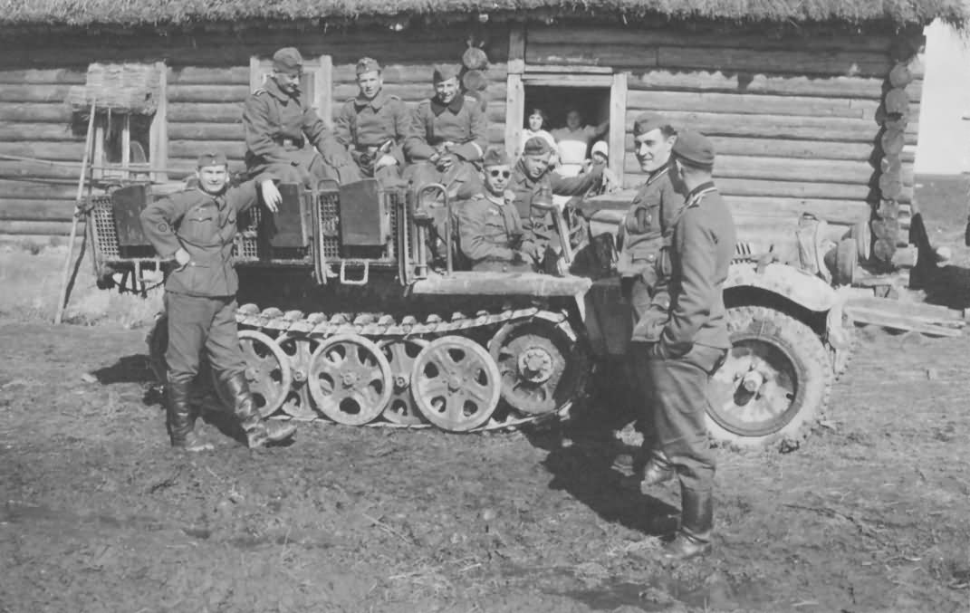 German Army SdKfz 10 halftrack vehicle