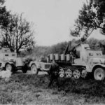 Armored SdKfz 10/5 half-tracks