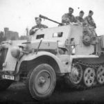 Armored SdKfz 10/5 of the Luftwaffe
