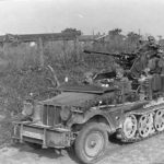 Self-propelled anti-aircraft gun SdKfz 10/4