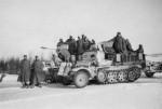 armored Sd.Kfz.10/4 with winter camouflage