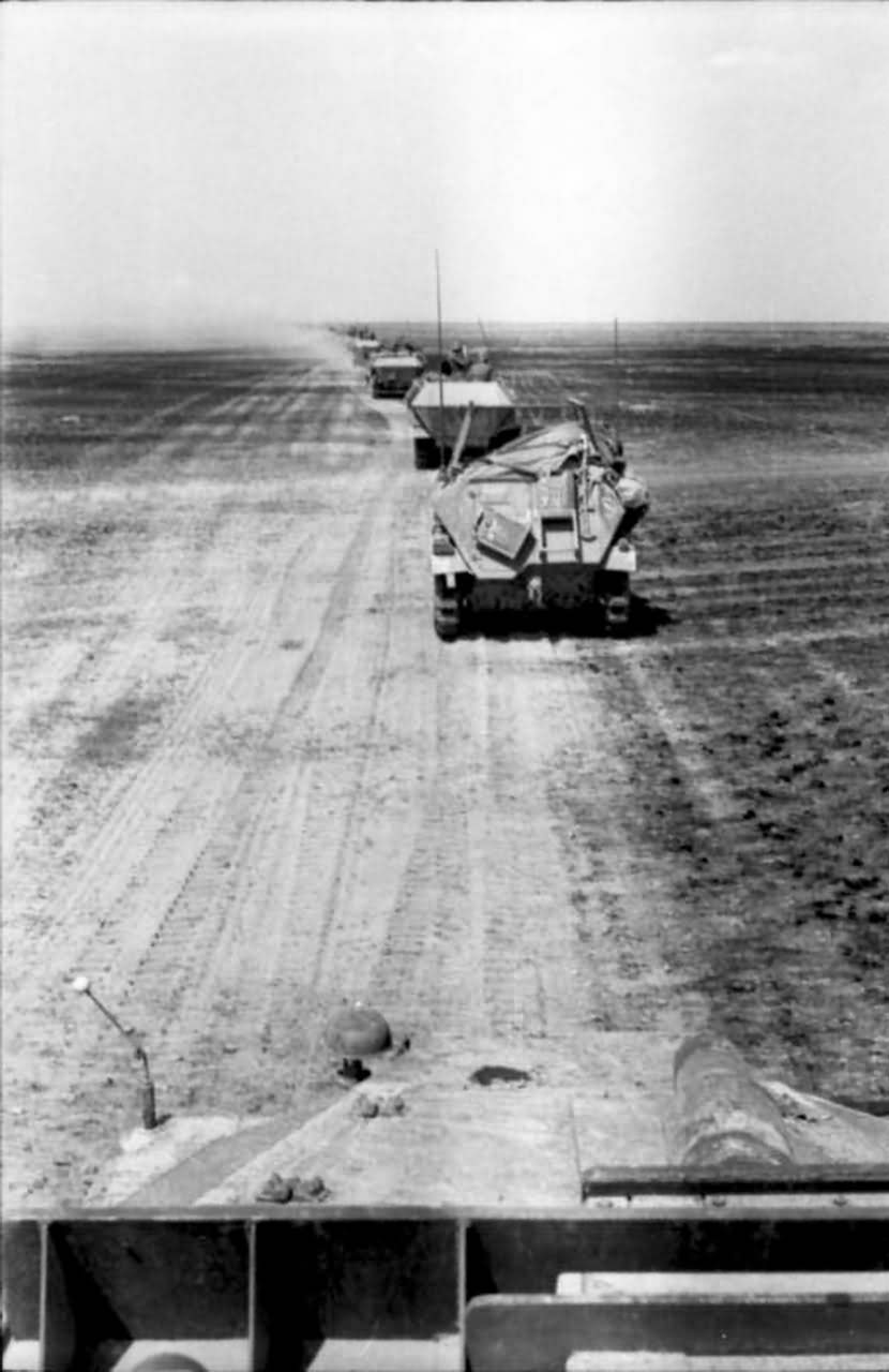 Column of SdKfz 250 and 251 eastern front south 1942
