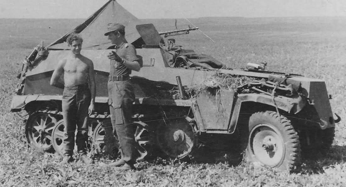 German Army SdKfz 250 Ausf A halftrack vehicle
