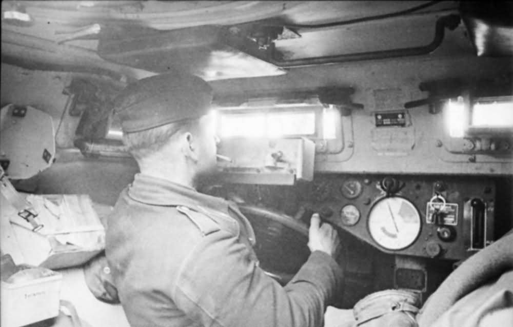 SdKfz 253 driver eastern front 1941