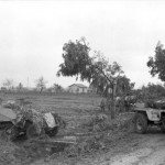 Camouflaged SdKfz 250 and SdKfz 251 Italy near Nettuno 1944