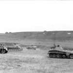 SdKfz 250/9 leichter Schützenpanzerwagen and Panzer II eastern front south 1942