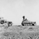 Armored halftrack SdKfz 250 Afrika Korps DAK