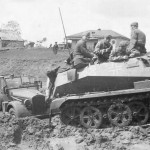 SdKfz 250 Ausf A in mud