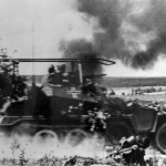 German armoured personnel carrier Sdkfz 250/3 in action