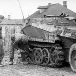Mud-covered Sd.Kfz. 250