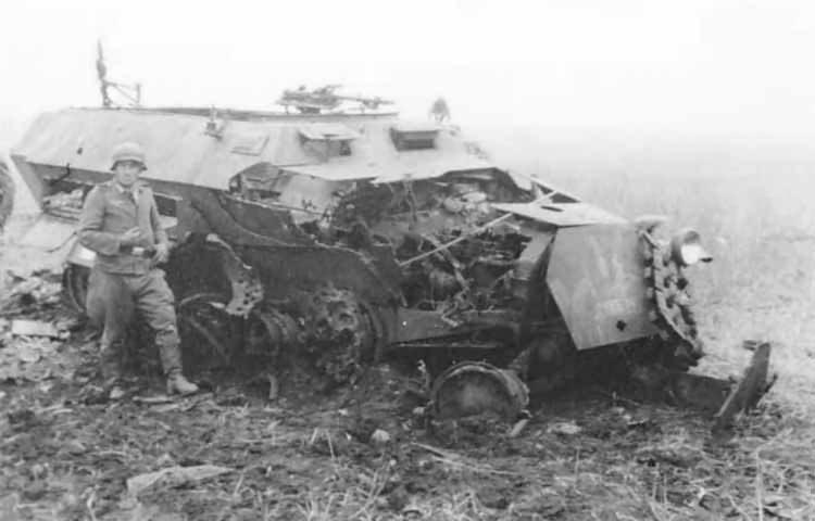 Destroyed SdKfz 251 Ausf C