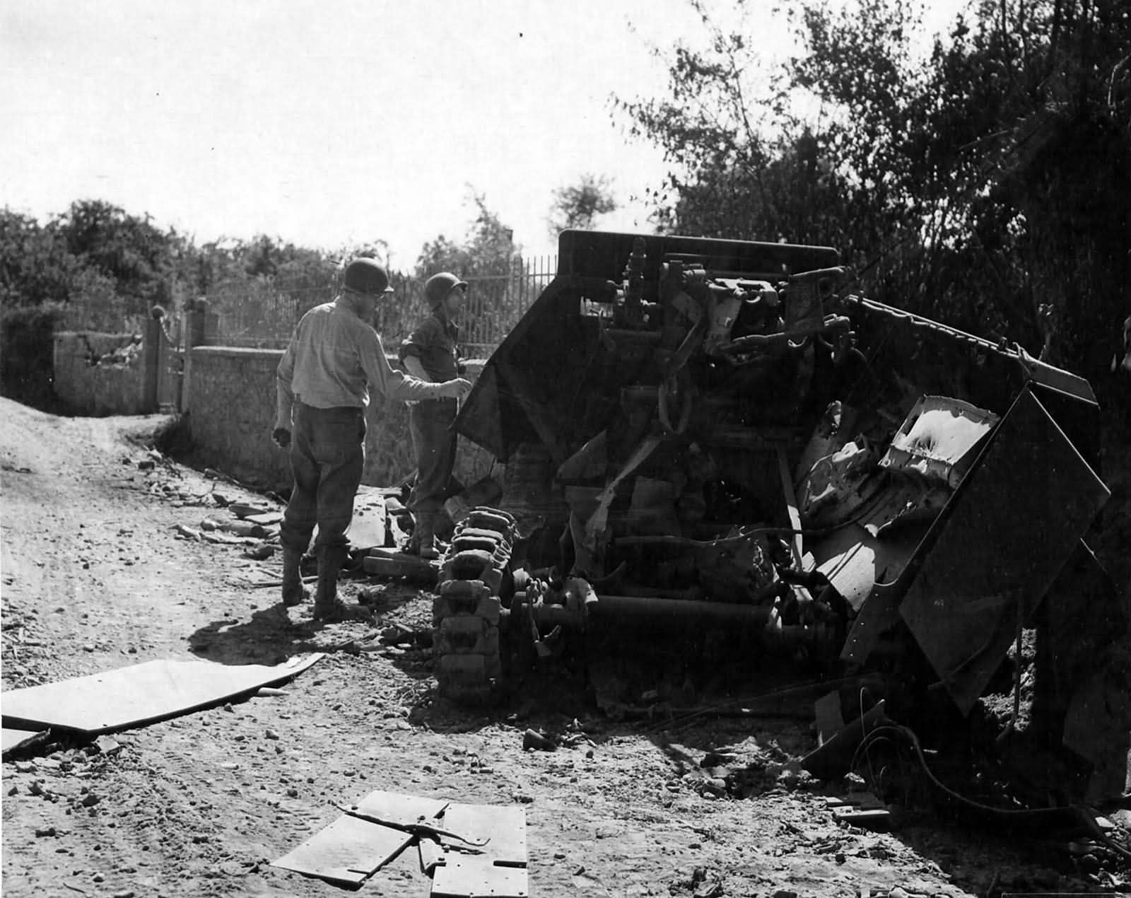 Destroyed SdKfz 251 Somewhere In France 12 August 1944