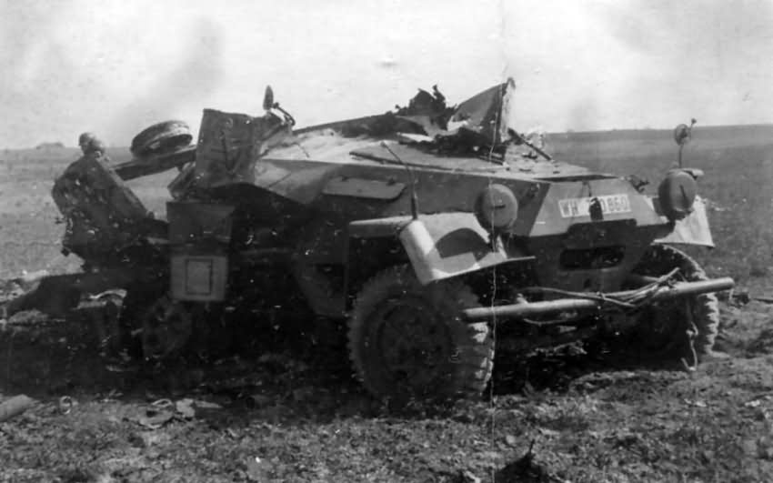 Destroyed SdKfz 251 Armoured Personalcarrier