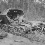 Destroyed german half track SdKfz 251