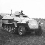 German armored personnel carrier SdKfz 251/1 Ausf C front