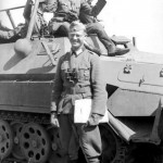SdKfz 251/6 Wehrmacht officers and Schutzenpanzerwagen eastern front 1942