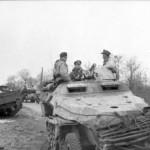 eastern front SdKfz 251 Schutzenpanzer and destroyed soviet M4 Sherman 1944