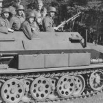 german halftrack SdKfz 251 Ausf A and wehrmacht soldiers