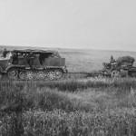 German SdKfz 6/1 5 ton Medium Artillery Halftrack towing gun eastern front 1941