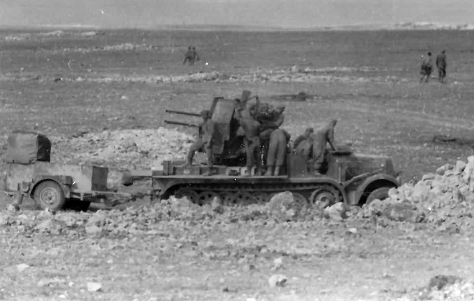 Afrika korps SdKfz 7/1 AA gun DAK