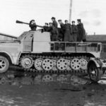 Armored SdKfz 7/2 with 37mm Flak