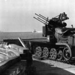 German self-propelled anti-aircraft gun SdKfz 7/1 with a 2 cm Flakvierling 38
