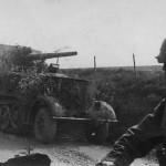 8,8 cm Flak 18 Selbstfahrlafette auf Zugkraftwagen 12t SdKfz 8 front view