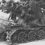 Destroyed 8,8 cm Flak 18 Selbstfahrlafette auf Zugkraftwagen 12t SdKfz 8 France 1940