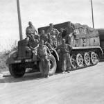 SdKfz 8 heavy halftrack with trailer Luftwaffe unit