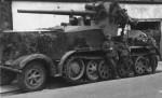 camouflaged 8,8cm Flak 18 auf Selbstfahrlafette Zugkraftwagen 12t