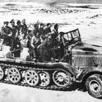 Captured SdKfz 8 heavy halftrack North Afrika