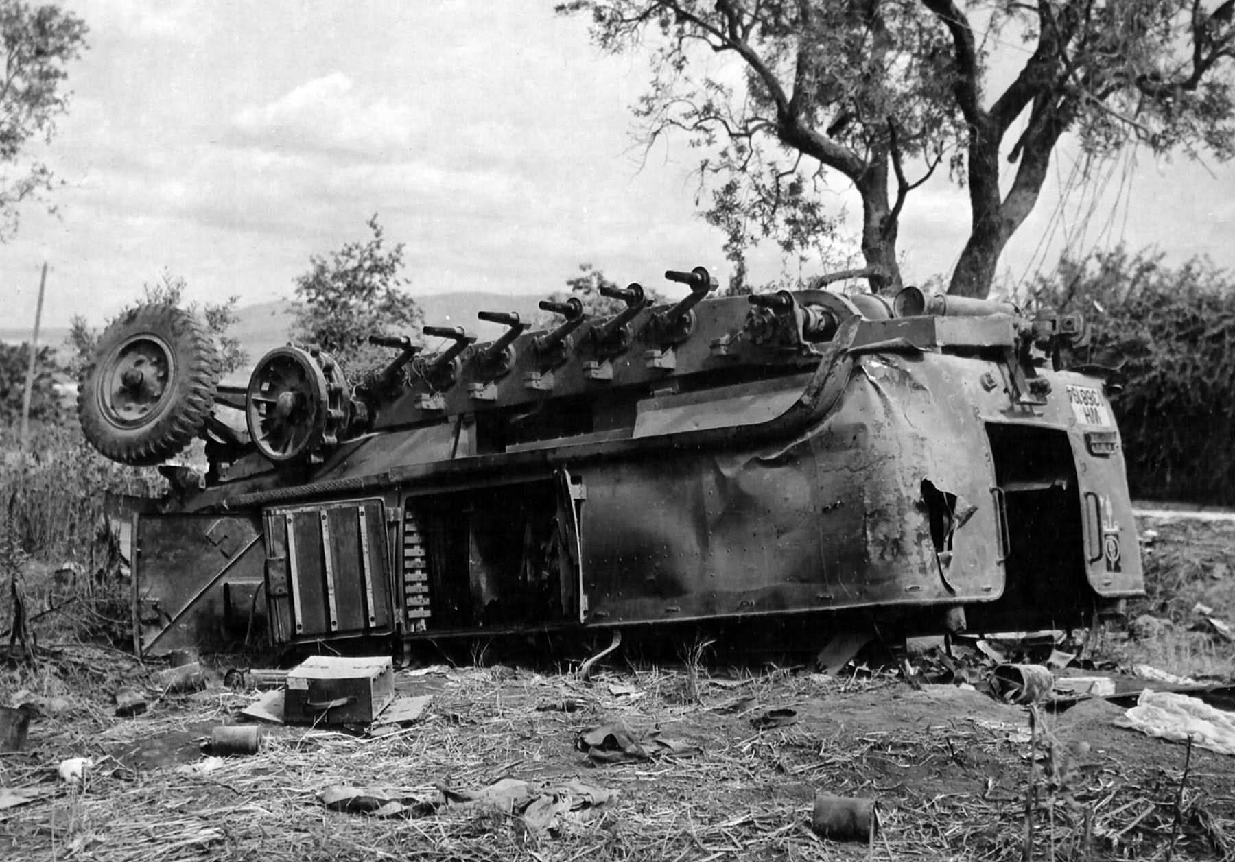 Destroyed Sd Kfz 11 Italy 1944 World War Photos
