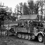 Hanomag SdKfz 11/5 towing Nebelwerfer eastern front