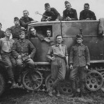 German light halftrack Sdkfz 11 with artillery superstructure