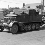 Artillery tractor SdKfz 11 of the 1. Panzer-Division