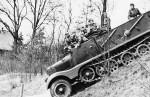 Wehrmacht halftrack leichte zugkraftwagen 3t SdKfz 11 mit Pionieraufbau – with engineer superstructure