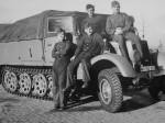 wehrmacht soldiers next to a SdKfz 11 halftrack WH-552422