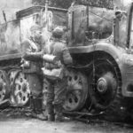 Burned out SdKfz 9