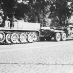 German 18 ton heavy half track FAMO and tank transporter