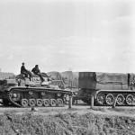 Sdkfz 9 FAMO towing Panzer III Russia 1941
