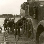 Wehrmacht Sdkfz 9 Halftrack on Ferry Barge