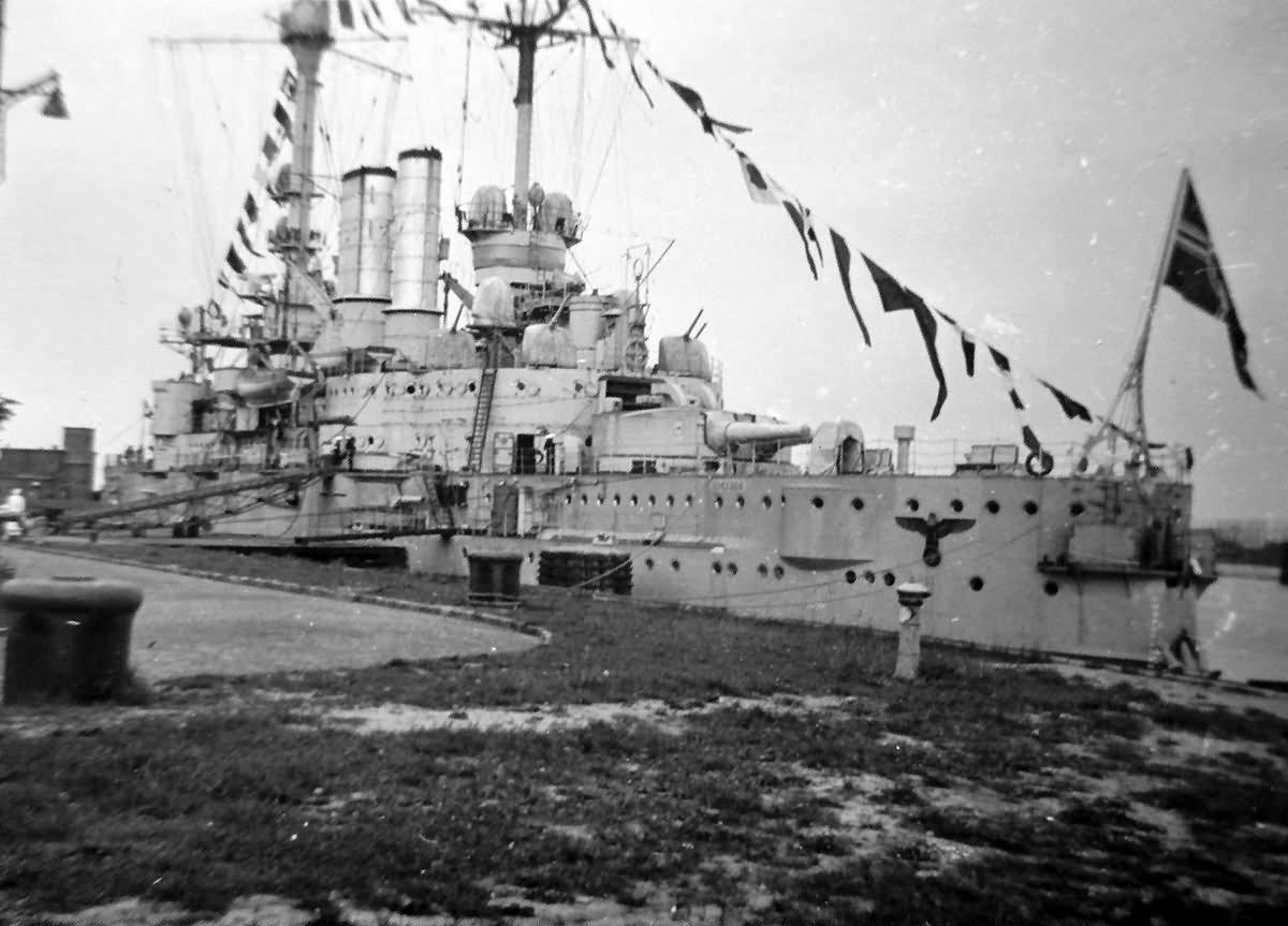 Deutschland class pre dreadnought battleship SMS Schlesien