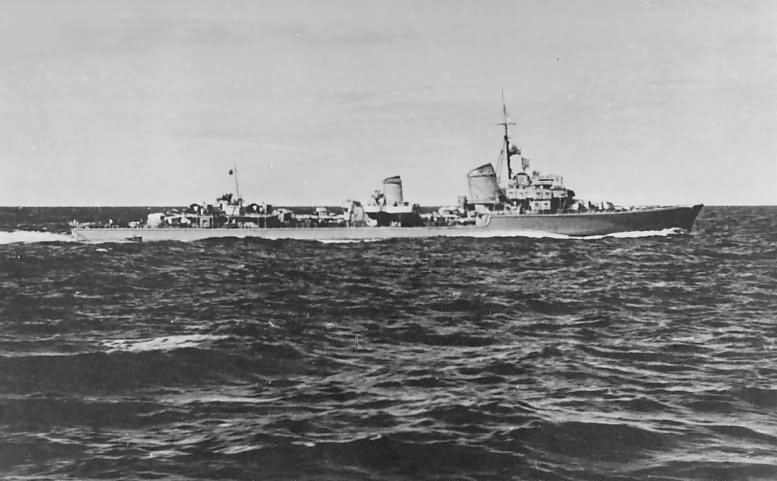 German destroyer Kriegsmarine