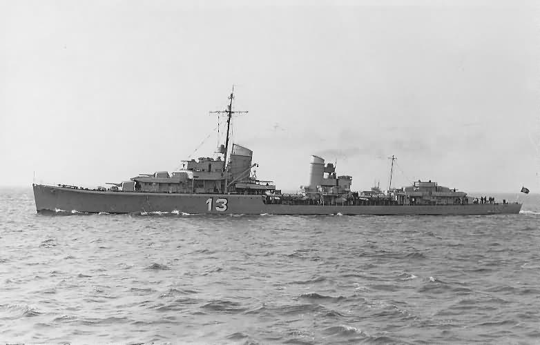 German destroyer Z2 Georg Thiele